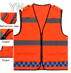 High Visbility Polyester Reflective Safety Vest pictures & photos