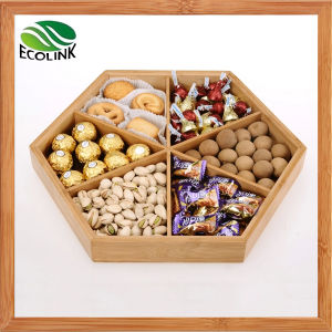 Bamboo Candy Tray with Cover / Serving Tray pictures & photos