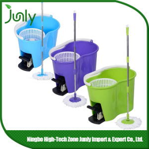 Double Bucket Magic Super 360 Spin Easy Mop with Foot Pedal pictures & photos