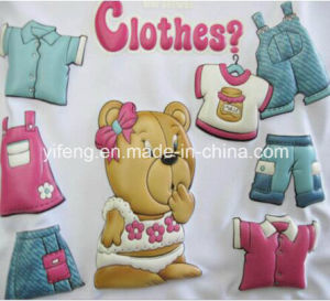 Cute Kids Clothing 3D Puff Transfer Printing Hot Peel pictures & photos