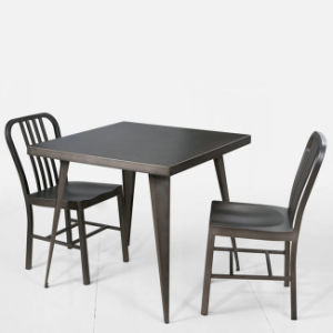 Contemporary Metal Tolix Set Tolix Square Table and Chair (FS-14038) pictures & photos