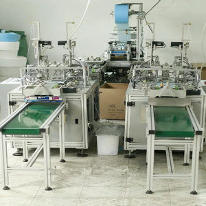 Full Automatic Face Mask Making Machine Join Earloop and Tie on The Same Machine pictures & photos