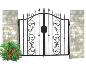Factory Outlet Powder Coating Wrought Iron Gate Designs for Sale pictures & photos