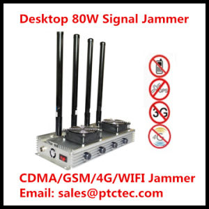 80W Desktop High Power 4G+GPS+3G Cell Phone Jammer RF Signal Jammer pictures & photos