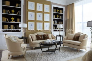 High Quality Classical Wooden Furniture Living Room Sofa (MS-B6032)