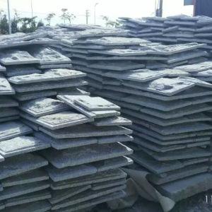 Grey Granite Mushroom Kerbstone Garden Stone and Paving Stone