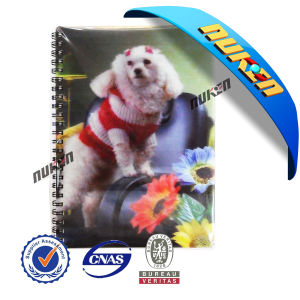 Plastic Spiral PP 3D Lenticular Notebooks pictures & photos