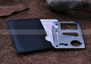 Multipurpose Pocket Survival Tool 11 Function Credit Card Knife (338) pictures & photos