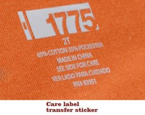 Heat Transfer Care Label Stickers Size Labels for Garments pictures & photos