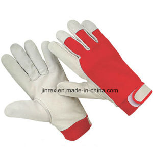 Promotional Pigskin Leather Mechanics Working Safe Hand Glove pictures & photos