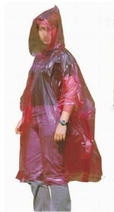 PE One Time Use Vinyl Raincoat