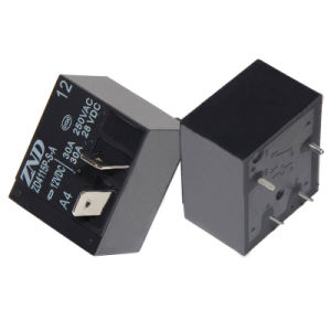 Zd4115p (T93) - A4-12V-30A Power Relay for Industrial Machine Components Use Miniature Relay Contact Switch 30A pictures & photos