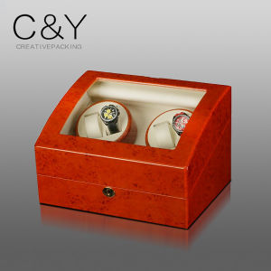 4+6 Matte Finish Lacquer Veneer Wood Automatic Watch Winder pictures & photos