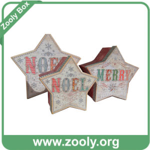 Glitter Holiday Nesting Star Boxes for Christmas pictures & photos