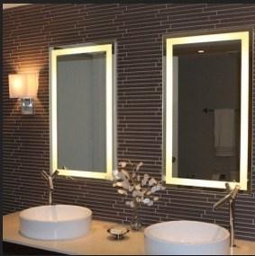 Bathroom Mirror with Sensor Switch