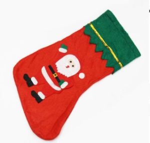 Hot Sale Santa Claus Pattern Non-Woven Christmas Stocking pictures & photos