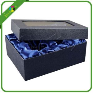 Delicate Paper Packaging Gift Boxes with Satin and Window pictures & photos