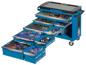 Hot Sale-9 Drawer Tool Trolley 485 Piece -Electric Blue pictures & photos