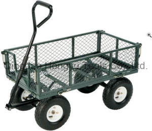 Heavy Metal Wagon Cart Use for Garden Tool Cart (TC1840A) pictures & photos
