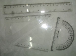 20cm Plastic Ruler Student School Ruler Set pictures & photos