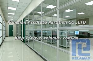 SGS Fireproof Single Glazed Glass Galvanized Steel Office Partition (6)