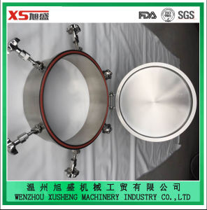 Stainless Steel AISI304 Food Grade Outward Oval Pressure Manhole Cover pictures & photos