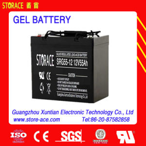 SGS Deep Cycle Battery 12V 55ah Gel Battery pictures & photos