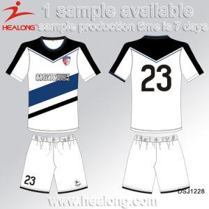 Healong Cheapest Sublimated Design Team Set Soccer Uniform pictures & photos