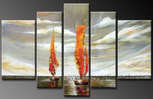 Modern Canvas Art Seascape Oil Painting for Home Decoration (LA5-070) pictures & photos