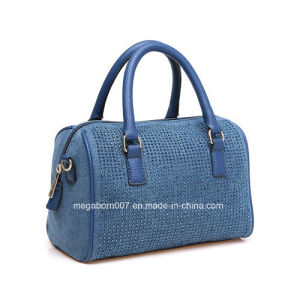 Blue Small Bling Bling Rhinestone Satchel Women Hand Bag (MBNO041033) pictures & photos