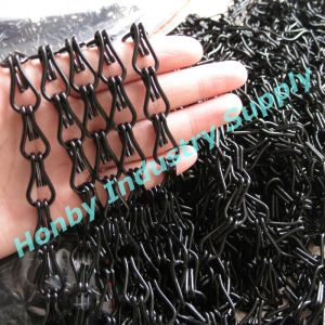 Hot Sell Black Color Double Hook Aluminum Link Chain