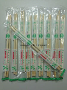 Twins Bamboo Chopsticks Semi-Closed Paper Sleeve pictures & photos