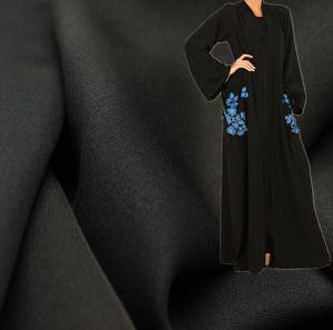 Korea Black Fursan Fabric for Abaya, Niqab