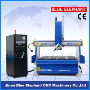 Ele-1530 High Speed 4 Axis CNC Router for 3D Wood Carving with Ce, ISO9001, SGS, FDA pictures & photos