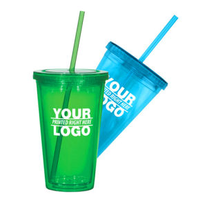 Double Walls Promotional Plastic Tumbler Advertising Tumbler pictures & photos