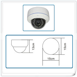 Surveillance Network Vandalproof Dome Camera with Night Vision and Vari-Focal Lens pictures & photos