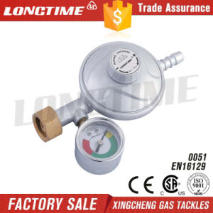 Domestic Use LPG Gas Pressure Regulator with Gauge