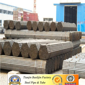 Black Welded Low Carbon Black Circle Round Steel Pipe/Tube pictures & photos