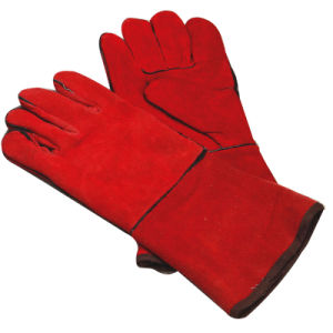 Leather Welding Gloves, Welding Leather Gloves, Safety Welding Gloves (WTWG008) pictures & photos
