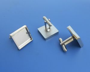Square Silver Metal Blank Cufflinks pictures & photos