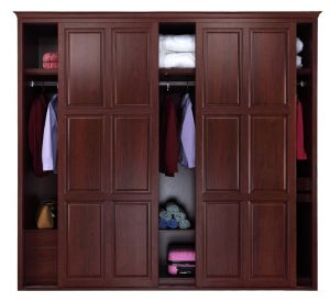 Athena Classical Red Cheery Bedroom Wardrobe with Mirror (CA01-06) pictures & photos