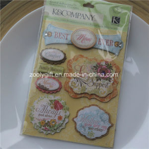 Customize DIY Adhesive 3D Scrapbooking Handmade Paper Craft Glitter   Dimensional Stickers pictures & photos
