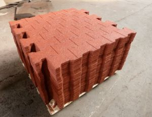 Playground Rubber Tiles, Colorful Rubber Paver, Interlocking Rubber Tiles pictures & photos