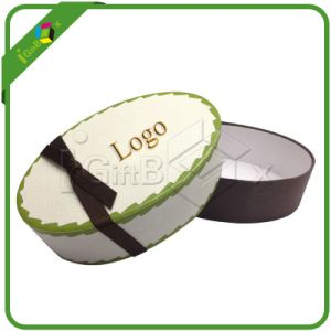 Cardboard Wedding Paper Gift Oval Gift Box with Lid pictures & photos