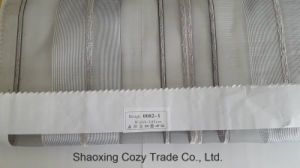 Popular Project Stripe Organza Sheer Curtain Fabric 00821 pictures & photos