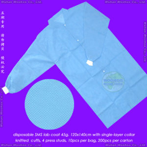 Disposable SMS Lab Coat, Disposable SMS Laboratory Coat pictures & photos