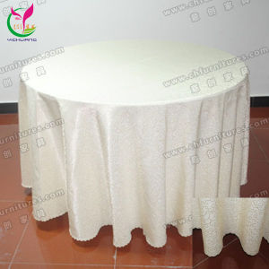 Banquet Table Cover Jacquard Table Cloth (YC-0286) pictures & photos