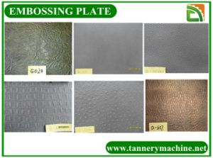 Embossed Plate for Embossing Machine