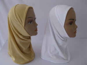 Polyester Muslim Hijab Scarves Bonnet in Stock-162