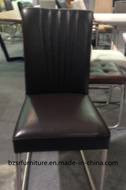 Black Genuine Leather Coating Dining Chair (SY-5387)